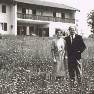 In Kempff's house in Ammerland, Germany. June, 1958