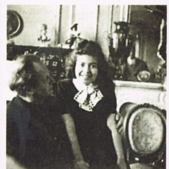 Little Idil with her mentor Kempff, 1953, Paris.