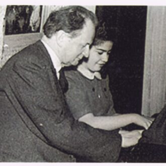 Biret and Kempff studying together, 1953, Paris.
