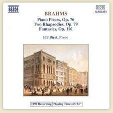 Brahms Piano Pieces, Op76/Rhapsodies, Op.79/Phantasies, Op.116 Piano Pieces, Op.76 No.1 Capriccio More...