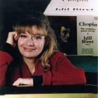 Idil Biret, in front of her Chopin box. Photo: Gündüz Kayra.