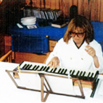 İdil Biret practising on her silent piano in the blue cruise before her concert in the İstanbul Music Festival.