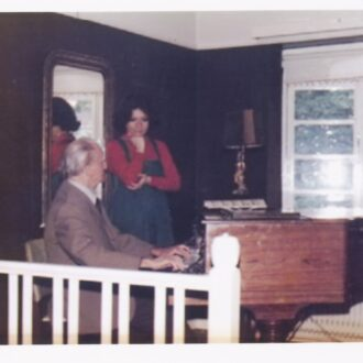 Kempff practicing for his concert in Brussels at Idil's house (1977)