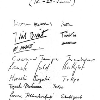 dil Biret's signature on the Beethoven-Kurs book in Positano 15-29 June 1966