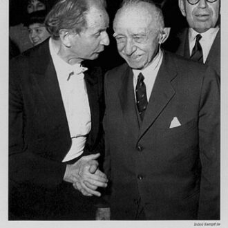 Kempff and Turkish prime minister Ismet Inönü after his concert in Ankara (1963)
