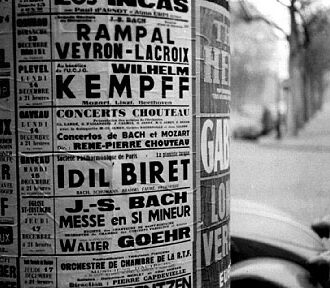 The concerts of the master and pupil in Paris announced together. 14 December 1959 Kempff at Salle Pleyel - 15 December 1959 Biret at Salle Gaveau